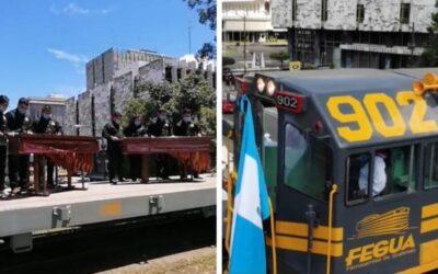 Locomotora 902 hizo un recorrido por la Ciudad de Guatemala